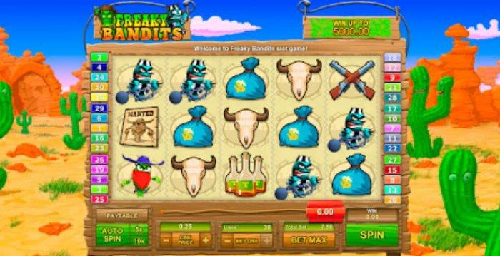 Игровой автомат Freaky Bandits